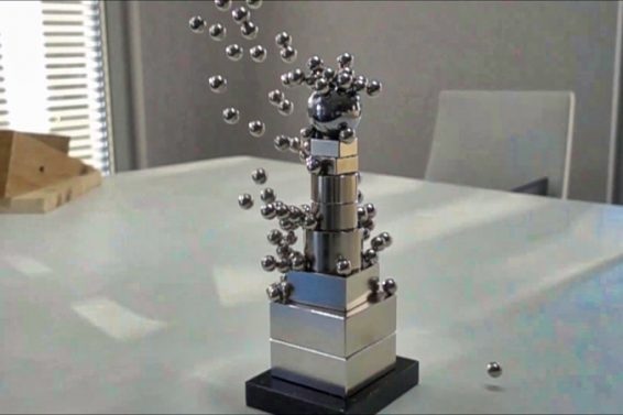 Insane Magnet Tower in Slow Motion