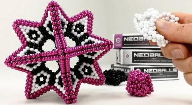Tesseract Set 864 Colorfull Magnetic Balls