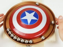 Magnetic Accelerator in a Circle with the shield of Captain America