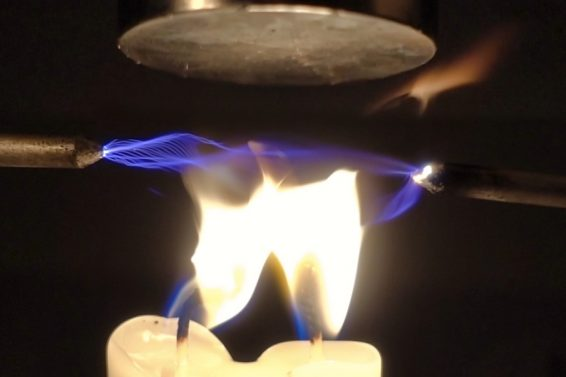 High Voltage through Flames and Magnetic Fields
