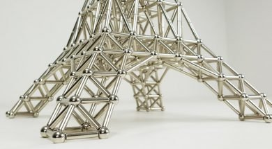 The Eiffel Tower made of Magnets