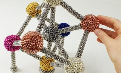 The Atomium Made of Magnetic Balls