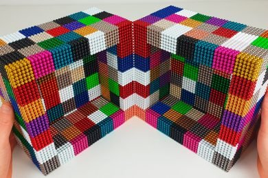 Playing with 50000 Magnetic Balls Insane CUBE