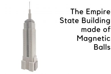 The Empire State Building made of Magnetic Balls MG
