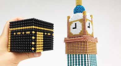 Makkah Royal Clock Tower out of Magnetic Ballsjpg