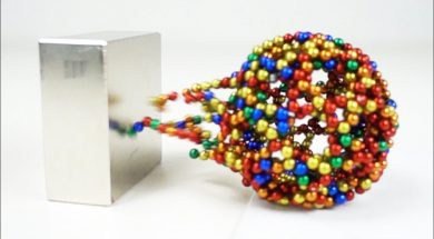 Monster Magnets VS Magnetic Sculptures in Slow Motion