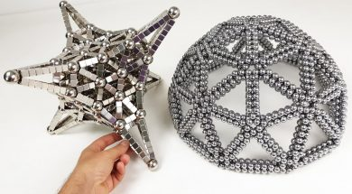 Magnet Satisfaction Dome and Hyperbolic Octahedron