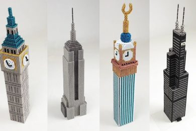 ASMR All my Skyscrapers out of Magnetic Balls
