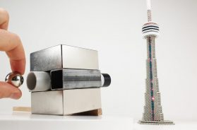 Magnetic Cannon VS CN Tower out of Magnetic Balls