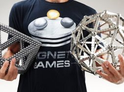 Giant Sculptures out of Magnets Octahedron and Sphere
