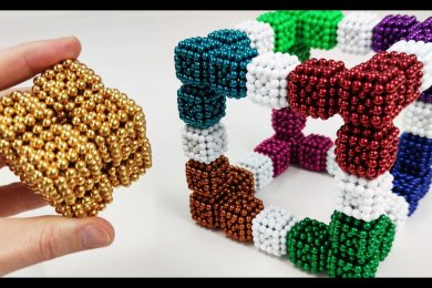 Cubes of Cubes of Magnetic Balls