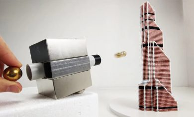 Magnet Gun VS Magnetic Sculptures