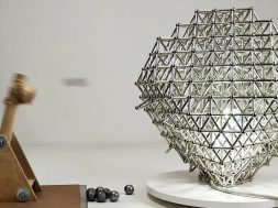 Magnet Cuboctahedron Lamp VS Magnetic Catapult