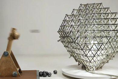 Magnet Cuboctahedron Lamp VS Magnetic Catapult