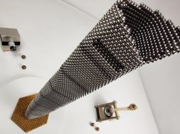 Magnetic guns VS Shanghai Tower made of magnetic balls